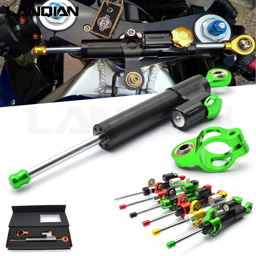 Motorcycle Damper Steering Stabilizer Moto Linear Safety Control For Honda nc750x cbr 600 rr CB650R Cb650F