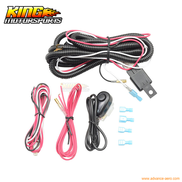 Universal Fog Lamp Wiring Harness Switch Kit Fog Light USA Domestic ...
