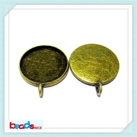 Beadsnice Jewelry Подвеска Бейл Латунь Никелированная свинца безопасным стороны стойки покрытие подходит 27 мм круглый ID24070