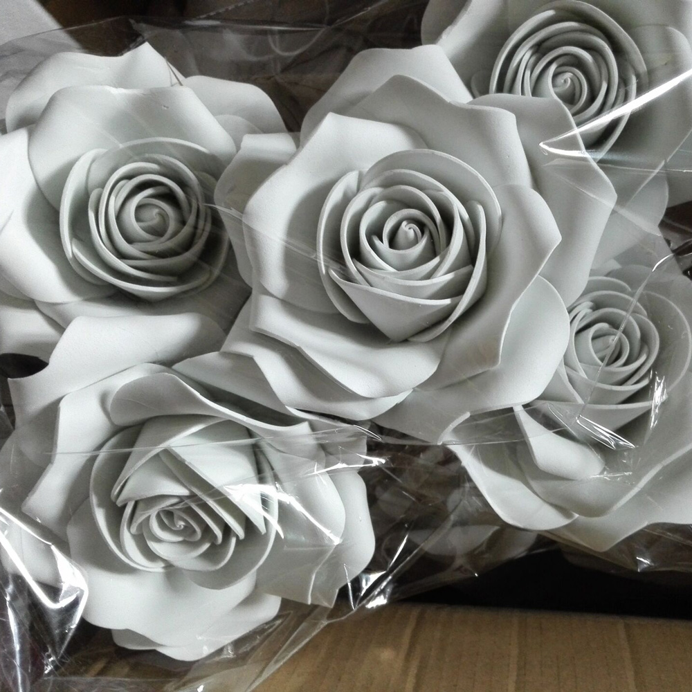 Online buy wholesale valentine day paper flowers from china 20cm valentines day foam flower party christmas wedding decoration artificial paper flowers party paper flower shooting dhlflorist Image collections