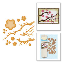 GJCrafts Cherry Blossoms Dies Flower Branch Metal Cutting New 2019 Scrapbooking for Card Making DIY Embossing Craft