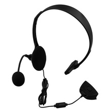 Marsnaska  Top Quality protable xbox360 Wired Gaming Chat single Headset Headphone Microphone for xbox 360 computer Black