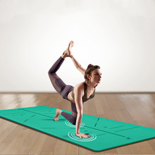 183*80CM*8MM TPE anti-skid yoga mat is suitable for fitness odorless brand Pilates mat with position line anti-skid carpet mat