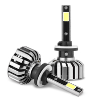 Super Bright Car Headlights N7 880 1 Set 80W Set 40W Each Bulb CREE Chip LED