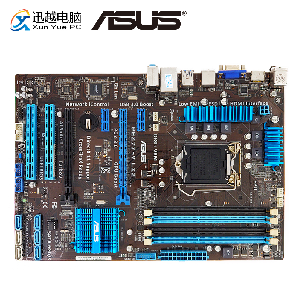 Asus P8Z77-V LX2 De Bureau Carte Mère Z77 Socket LGA 1155 i3 i5 i7 DDR3 32g SATA3 USB3.0 VGA HDMI ATX