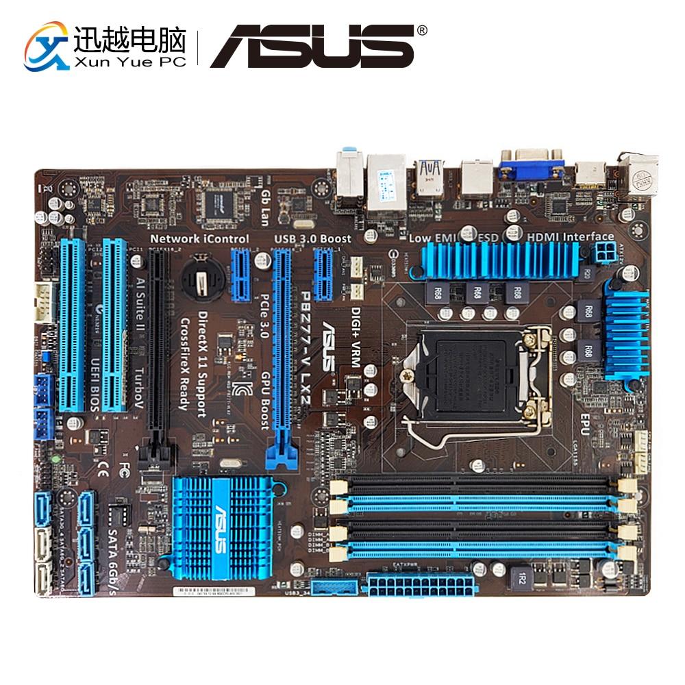 Asus P8Z77-V LX2 Desktop Motherboard Z77 Socket LGA 1155 i3 i5 i7 DDR3 32G SATA3 USB3.0 VGA HDMI ATX
