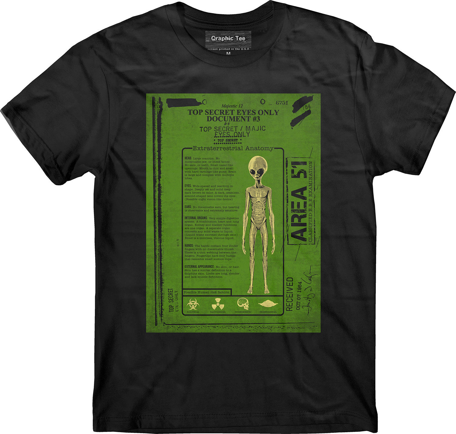 Area 51 T shirt, Alien Anatomy T shirt, Property of Area 51, Nevada ...