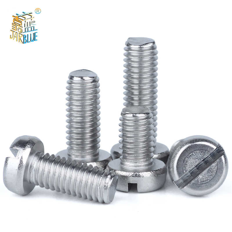 50pcsm1.6m2 M2.5 M3 Din85 Gb67 304 Stainless Steel Slotted Pan Screws Slotted Grooving Screw