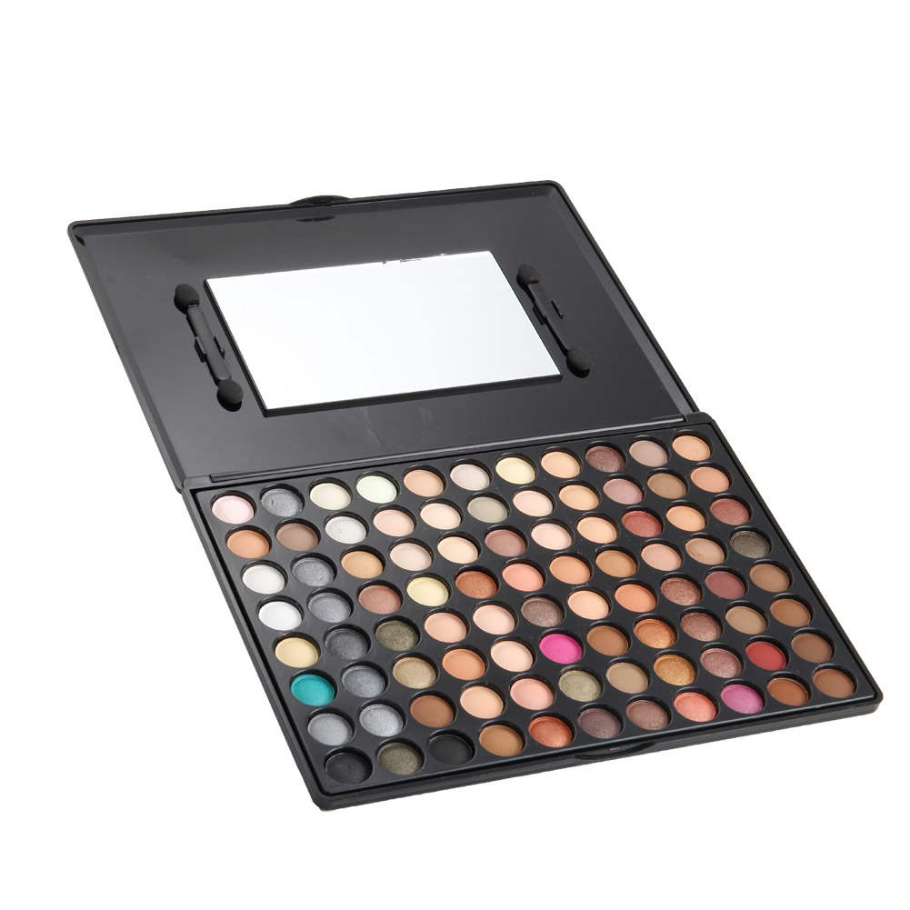 2017 88 Colors Eyeshadow Palette With Mirror And Brushes Matte Warm Color Eyes Makeup Be ...