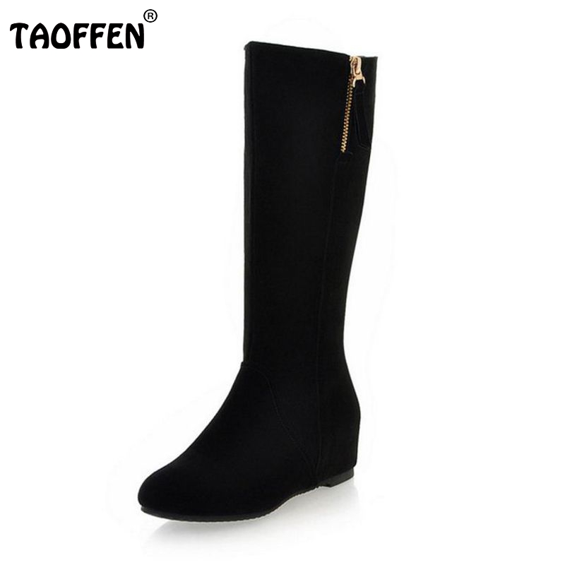 Free shipping half short natrual real genuine leather wedge boots women winter warm boot shoes R3052 EUR size 34-39 women real natrual genuine leather high heel boots half short feminina botas winter boot footwear shoes r7249 size 34 39