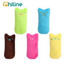 Funny Interactive Plush Cat Toy Pet Kitten Chewing Teeth Grinding Catnip Toys Claws Thumb Bite mint For Cats Supply