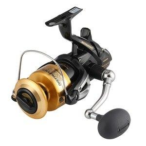 Image 2 - بكرة صيد أصلية Shimano Baitrunner, بكرة صيد شيمانو طراز 4000D 6000D 8000D مقاومة للمياه المالحة نسبة الترس (4.8:1) 3+1 Bearings Fishing 100%