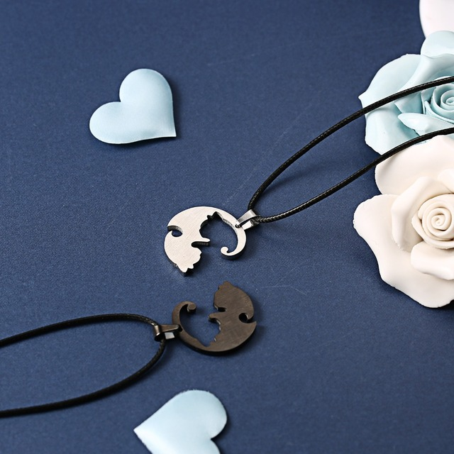Ying and Yang Cat Style Necklace