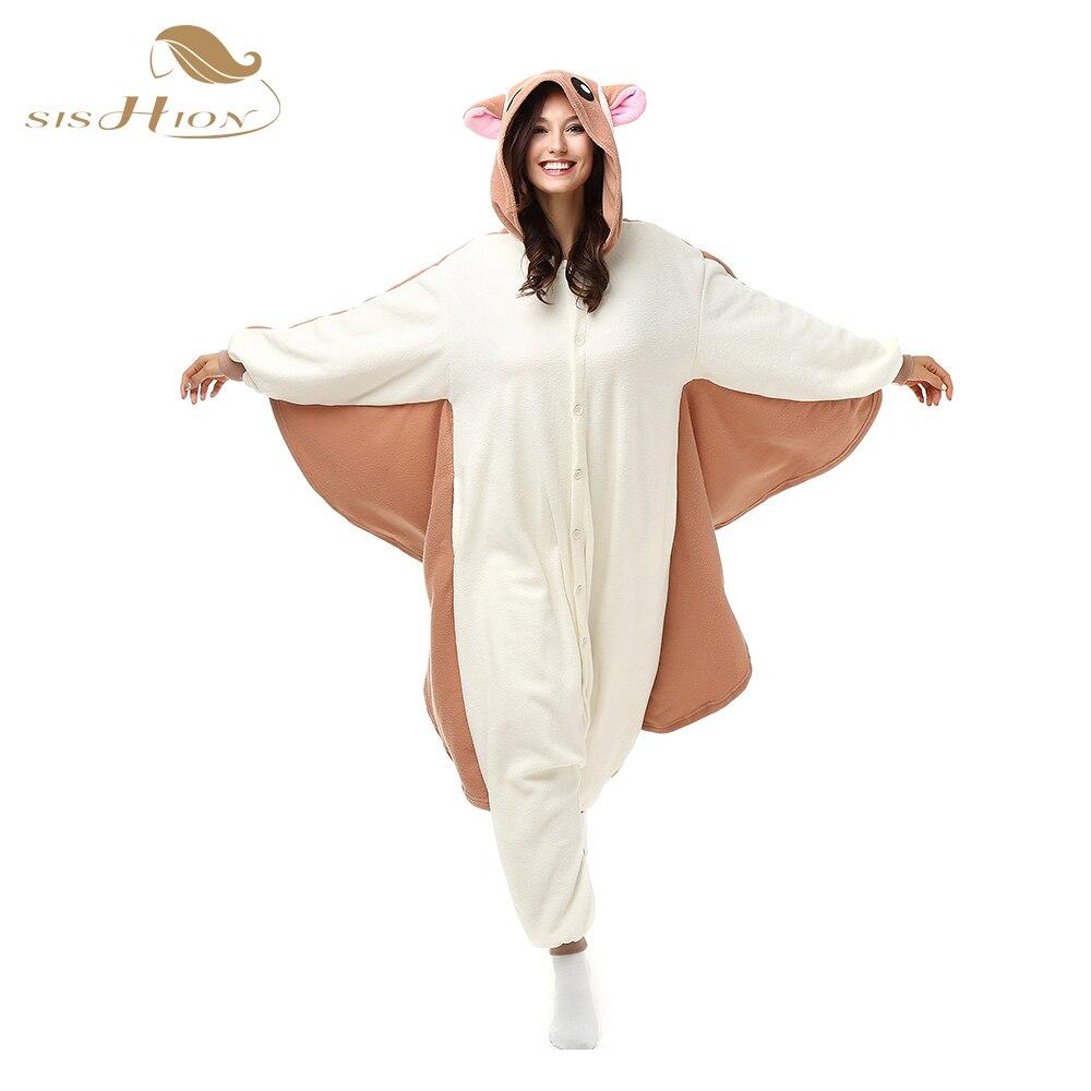 SISHION Party Unisex Adult Pajamas Warm Plush One Piece Costume Sleepwear Flannel Animal Onesie Hoodie OS0031