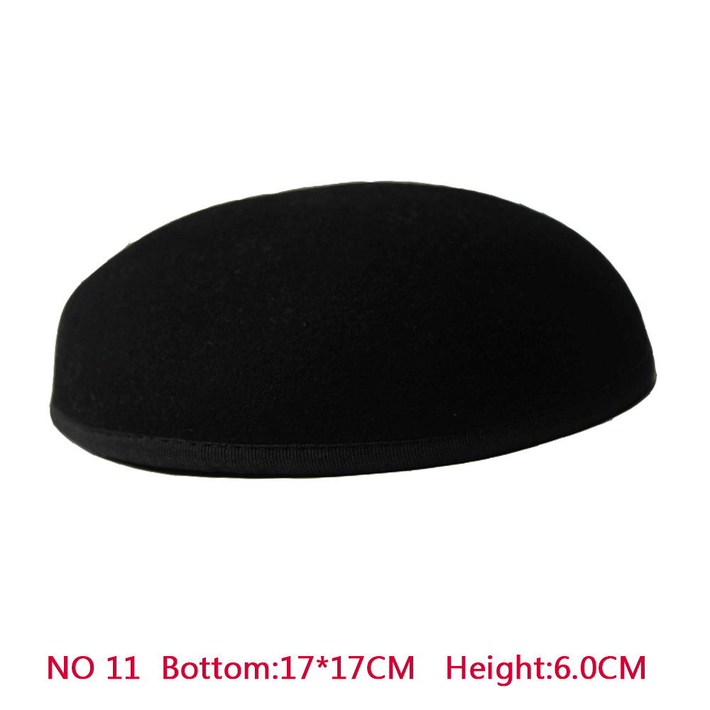 New Style 17*17 cm 100% Wool Anomalistic Fascinator Base Hat Millinery Form 10pcs/lot