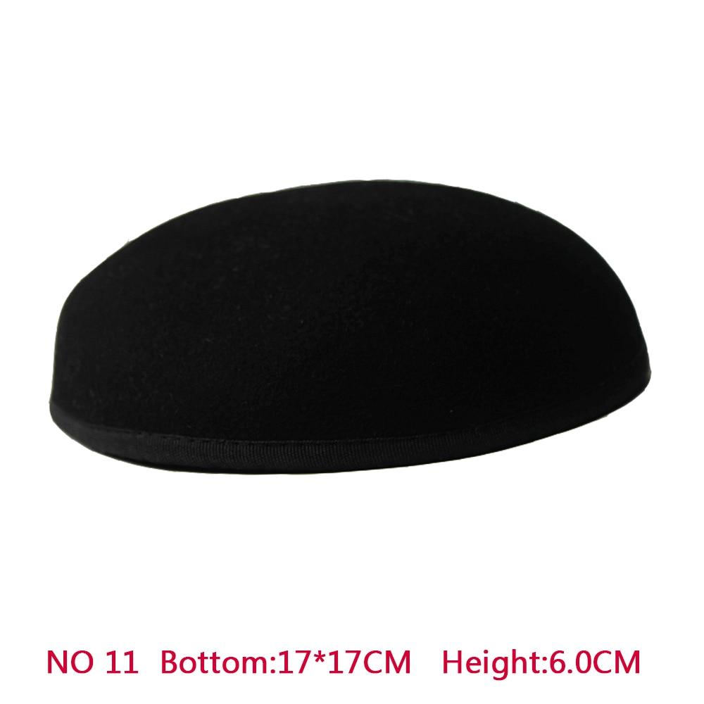 Yeni Stil 17 * 17 cm 100% Yün Anomalistic Fascinator Bankası Şapka - Elbise aksesuarları