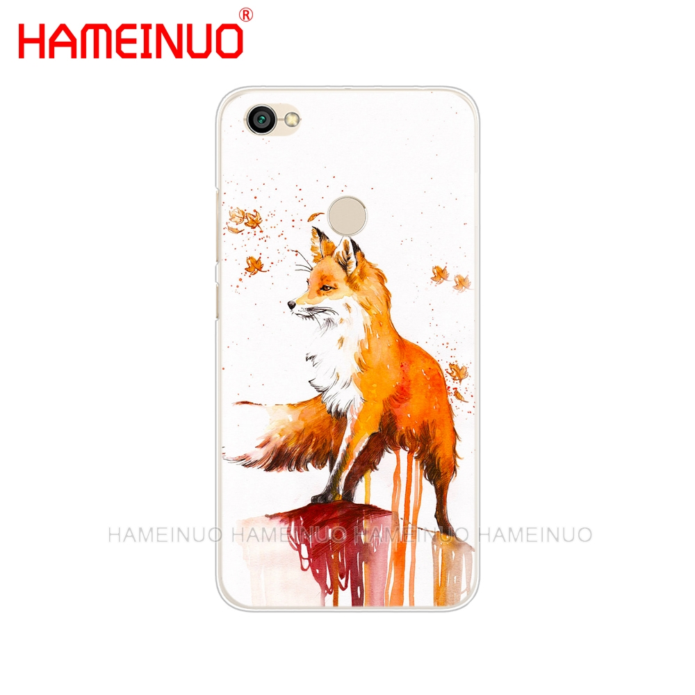 Cute Fox In Autumn Leaves Forest Cover Phone Case For Xiaomi Redmi 5 4 1 1S  2 3 3S Pro PLUS Redmi Note 4 4X 4A 5A