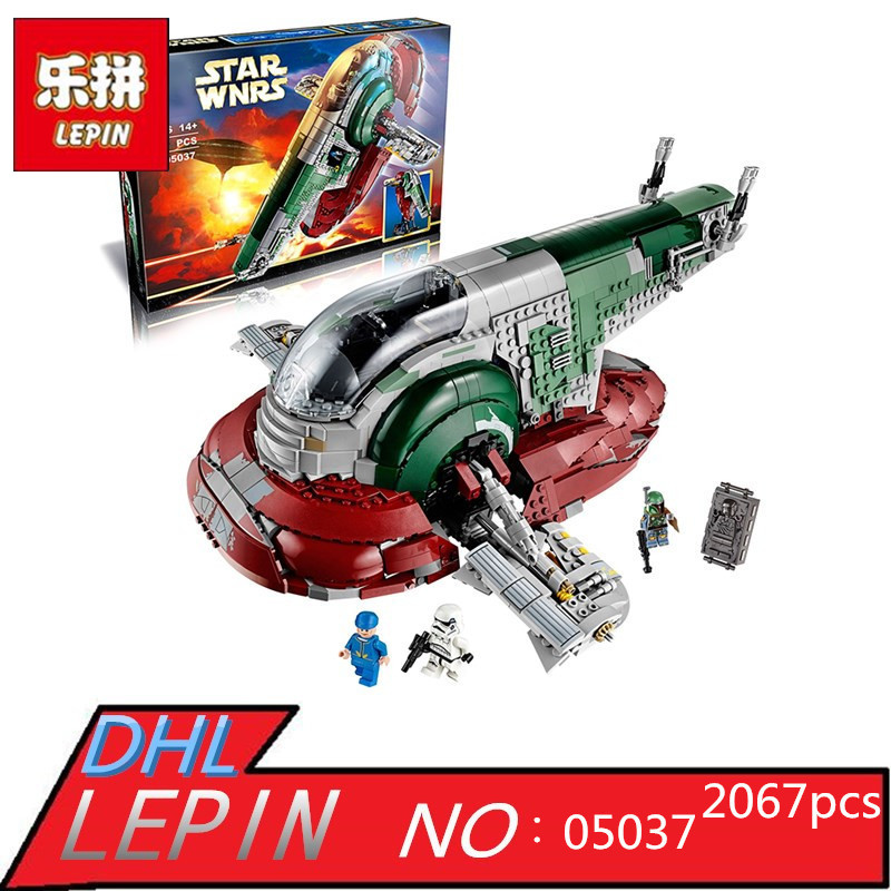 New LEPIN 05037 2067pcs Star UCS Wars Slave 1 Model Building Blocks Bricks Kits Compatible 75060 Children Moc Toys Gift new 5265pcs star wars ultimate collector s millennium falcon model building kits blocks bricks kids toys compatible with 10179
