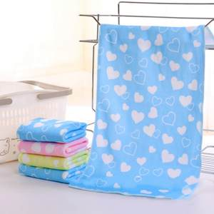 Baby Animal Heart Print Bath Towel Cute Towel Baby Cartoon Absorbent Drying Swimwear Baby Cotton Kids Towels