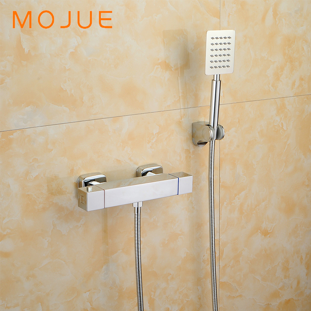 MOJUE thermostatic shower set simple bathroom shower faucets Wall ...