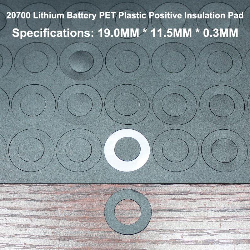 Купить с кэшбэком 100pcs/lot 20700 Lithium Battery High Temperature Insulating Gasket Blue Hollow Flat Surface Mat Insulation Meson