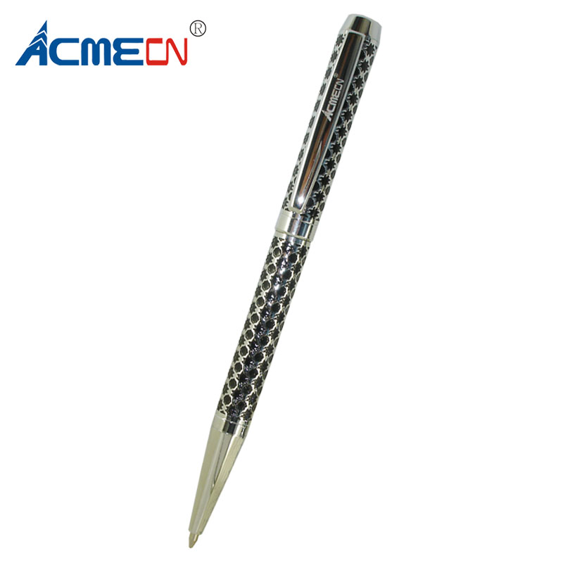 ACMECN Carving Custom Design Personalized Brand Pen Retractable Mechanism Unisex Twist Slim Ballpoint for Business Gifts