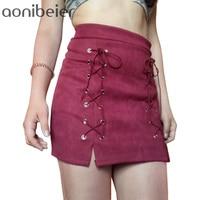 Best Price Women Skirt Classic Vintage All Match Bandage Skirt 2016 Fashion Autumn Winter High Waist