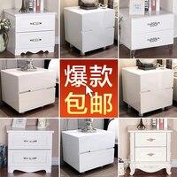 Европейский стол простой современный корейский белой краской шкафчики готовы два Специальное предложение простые тумбочка ящик шкафа Box