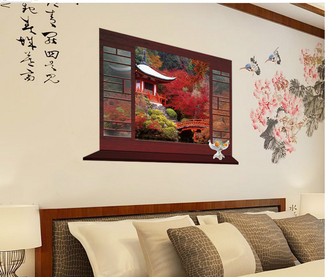 Four seasons scenery wallpaper art wallpaper restaurant for 4 seasons mural