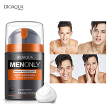 BIOAQUA Brand Skin Care Men Deep Moisturizing Oil-control Face Cream Hydrating Anti Wrinkle Anti-Aging Whitening Day Cream 50ml bioaqua brand skin care horse oil whitening hydrating moisturizing face cream anti wrinkle anti aging face care day cream 50g