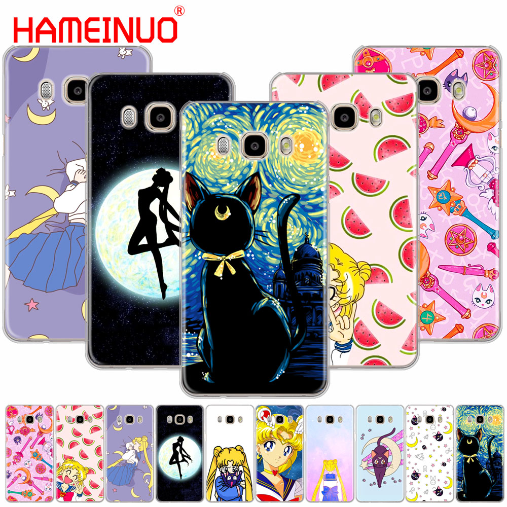 Lavaza Lovely Cute Sailor Moon Cartoon Phone Case For Samsung Galaxy A6 A8 Plus A7 A9 2018 A3 A5 2017 2016 2015 Note 9 8 Profit Small Phone Bags & Cases Half-wrapped Case