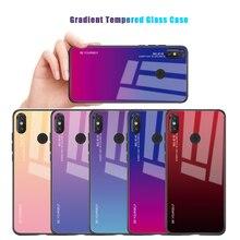 Gradient Cover For Xiaomi Mi A2 Lite A1 Mi6X Mi5X Mi6 Mi8 Pocophone F1  Tempered Glass Case Redmi