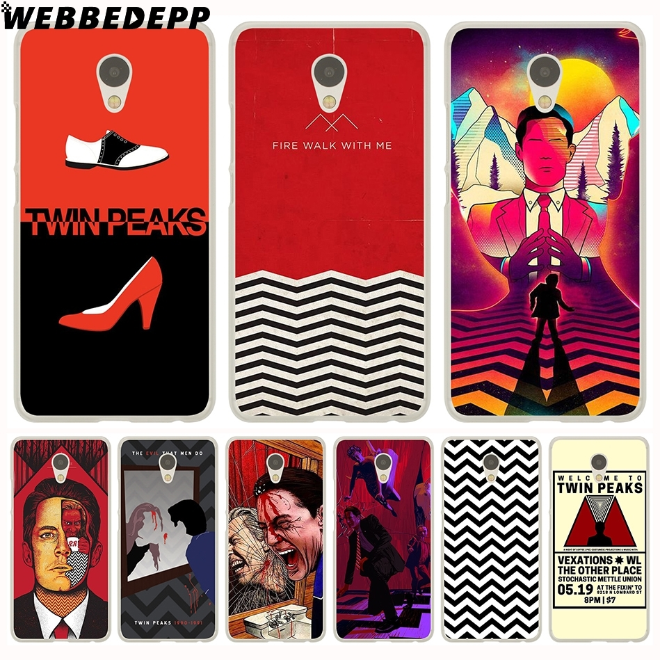 WEBBEDEPP Red WELCOME TO TWIN PEAKS Hard Case for Meizu M6 M5 M3 Note M5S M5C M3S M2 Mini Pro 7 6 U20 U10