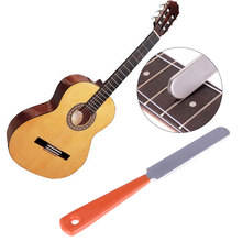 Durable Stainless Steel Guitar Fret File Crowning Luthiers Tools Narrow Dual Cutting Edge Tools File