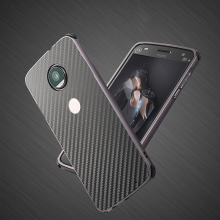Luxury Hybrid Case For Motorola MOTO Z2 Play Hard Carbon fiber Coque Metal Bumper+PC Protective Back Cover For MOTO Z2 Play Case for motorola moto z2 play phone bag case for moto z2 play luxury crocodile skin pu leather protective case cover moto z 2 play