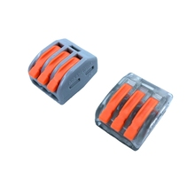Wago Type Wire Connector 222 Series 10PCS Cage Spring Universal Fast  Wiring Conductors Terminal Block China Free Shipping