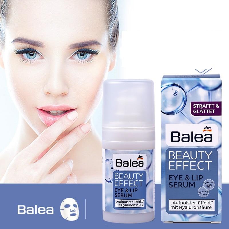 Germany Balea Beauty Effect Eyes & Lips Serum Hyaluronic Acid Eye Cream Massage Fight swelling dark circles Fine Wrinkles Lines