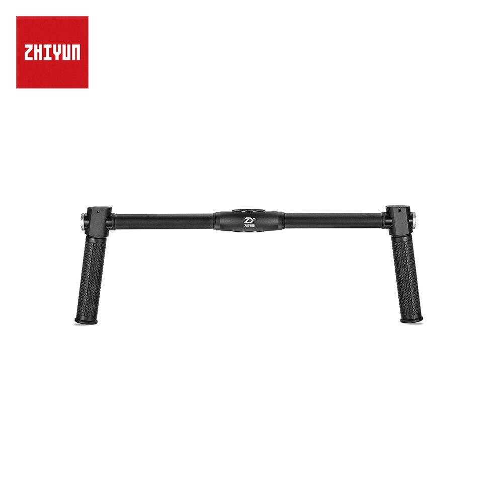 ZHIYUN Oficial Dual Handheld Estendido Lidar Com Apertos Acessórios Handbar para Zhiyun Guindaste Plus/V2 Crane/Guindaste M Cardan estabilizador