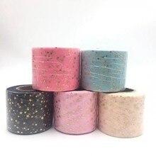 50y/roll 6cm Star Tulle Confetti Glitter Baking Cake Topper Tutu Pom Bow Soft Squine DIY Wedding Birthday Decoration