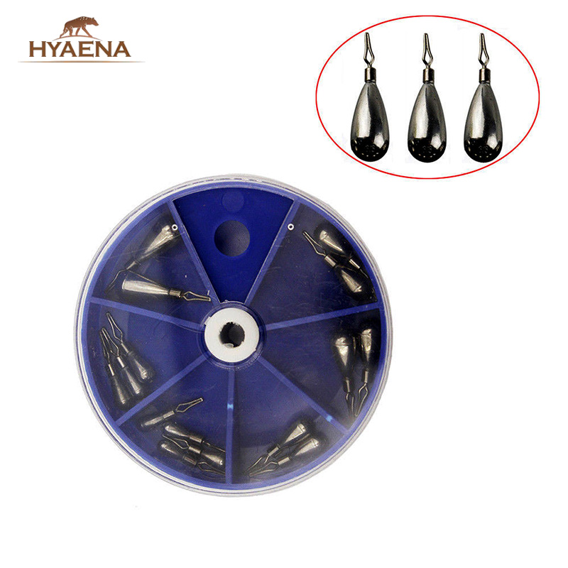 Hyaena 15pcs/Round Box Fishing Tungsten Sinker Drop Shot Weight Saltwater Downshot Weight