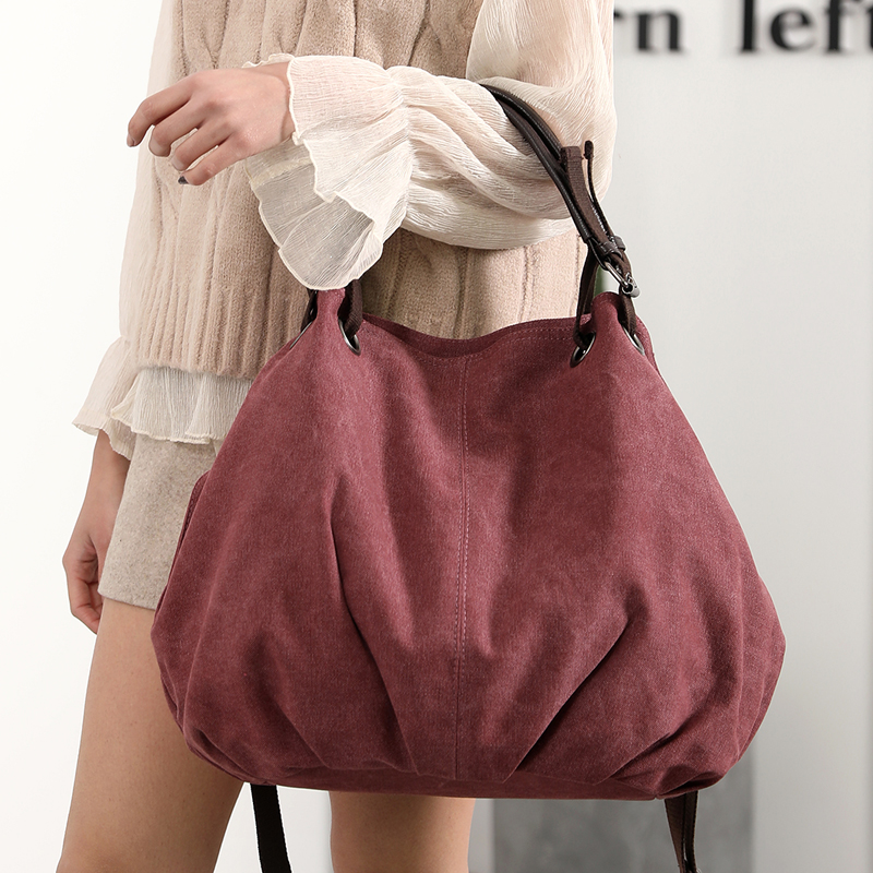 Women's Bags Ladies Handbags Canvas Handbag Shoulder Top-handle Tote Hand Bag Crossbody 2018 Vintage Retro Bags Bolsa Feminina