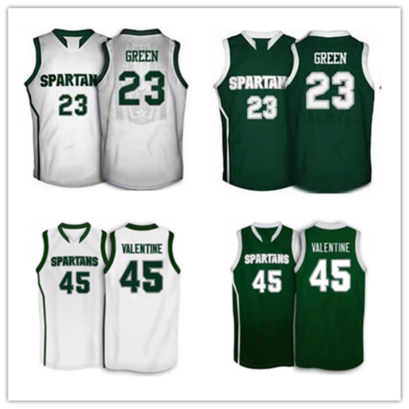 803d4f1e8bc6 ... michigan state spartans college 45 denzel valentine 23 draymond green  basketball jersey stitched ...