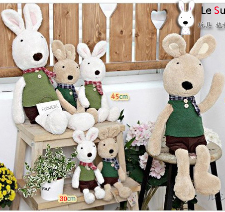 Pernycess 1pcs60cm felt confining models genuine security le sucre sugar rabbit doll plush toys colors: black white brown