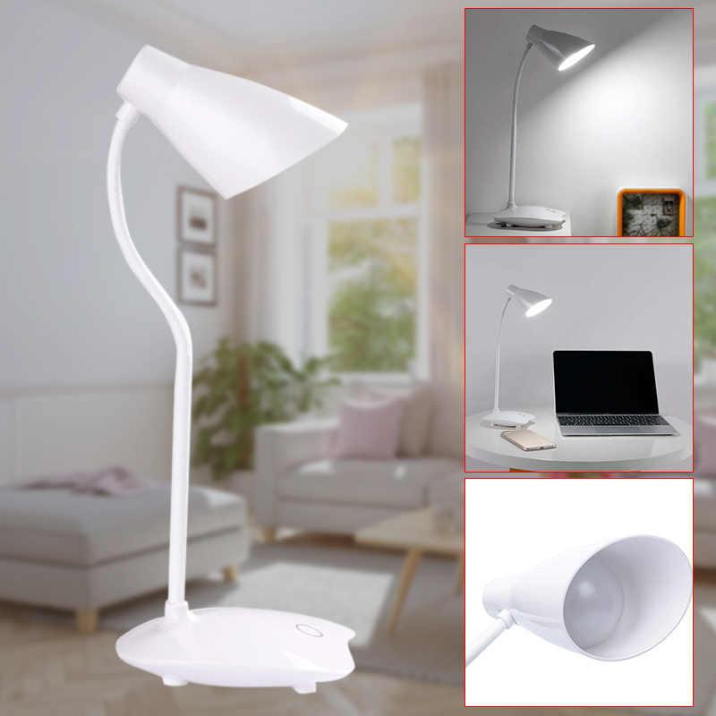 Регулируемая яркость светодиодный настольный светильник для чтения домашнего офиса Гибкая Настольная лампа для шеи USB перезаряжаемая LKS99