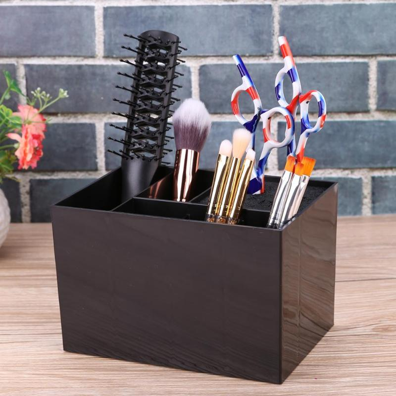 1pc Hairdressing Scissors Comb Holder Case Antislip Hair Clips Storage Box Tool Pro Salon Storage Box Supplies Tools professional hair tool bag salon portable comb tool case for hair styling tools storage pu leather hair scissors bag