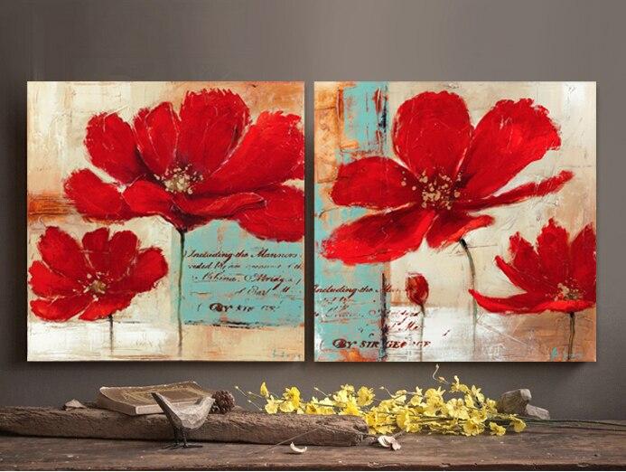 Rouge coquelicots peinture promotion achetez des rouge - Fotografia cuadros decoracion ...