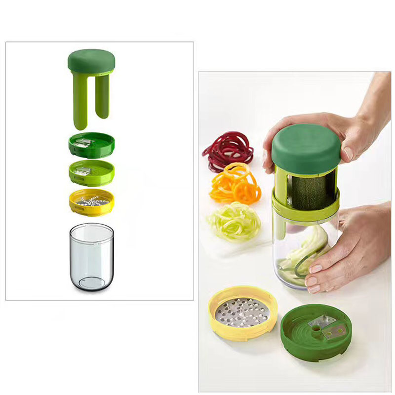 Carrot Cucumber Grater Spiral Slicer Blade Cutter Vegetable Fruit Tools Supply