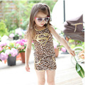 The Summer Of 2015 Children The New Summer Cotton Lovely Leopard Diamond Suit For Girls