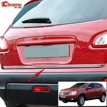 Для Nissan Qashqai/+ 2 2007 2008 2009 2010 2011 2012 2013 Хром задний багажник откидной двери Крышка МОЛДИНГ ПОЛОСА отделка стайлинга автомобилей