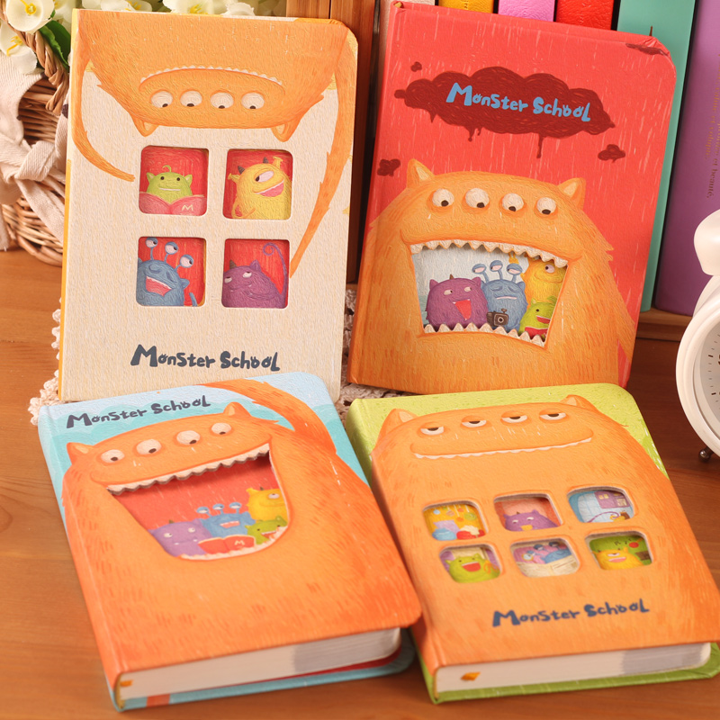 Free shipping Angel zimu stationery cartoon scleroderm monster hardbound diary tsmip notepad daily memos all blank notebook festina f20271 6 page 8